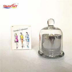 Mini 2 Oz Dome de Prata Jar Soja perfumada Vela de cera para a favor de casamento