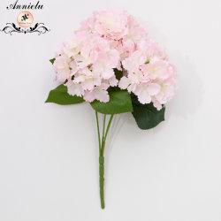 Decoração de casamento Flores artificiais Flores artificiais de Seda Big Hortênsia Flores