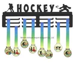 Gancio del supporto dell'amo della visualizzazione della medaglia del metallo di sport del hokey personalizzato fabbrica