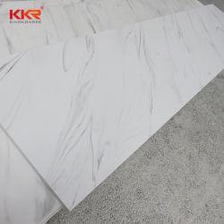 Kkrの大理石の静脈の人工的な石造りの平板は壁パネルおよびカウンタートップのためのアクリルの固体表面シートを修正した