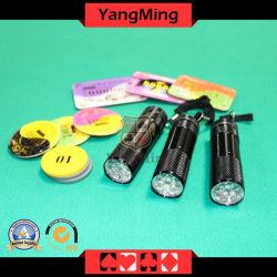 El juego de mesa de póquer de luz UV Mini multifunción fichas de póquer Checker de Casino Juegos de Poker
