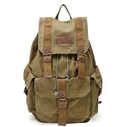 Mode sac à dos en toile épaisse haute densité de sac à dos sac pour ordinateur portable