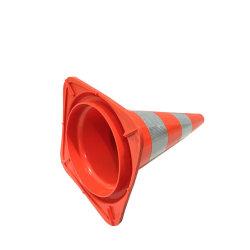 Veiligheidsuitrusting gerecyclede PE VerkeersPVC conus met rubberen basis