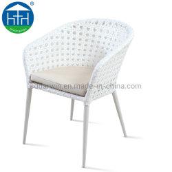 옥외 정원 가구 PE 등나무 고리 버들 세공 발코니 착석 의자 및 테이블