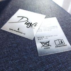 TPU macio de cuidados de impressão de etiquetas para moda praia/calções de banho