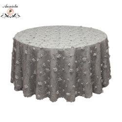 Mousseline de soie brodée de fleurs en organza nappe de filet pour Mariage Tableau Overlay
