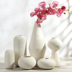 2019 de Nieuwe Vaas Van uitstekende kwaliteit van de Bloem van de Aankomst Met de hand gemaakte Witte Ceramische