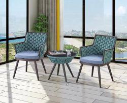 Kundenspezifische im Freiengarten-Gussaluminium-Tee-Seiten-Tisch-Stuhl-Sets