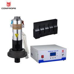 Plástico de ultrasonidos Máquina de soldadura con el transductor y el Cuerno