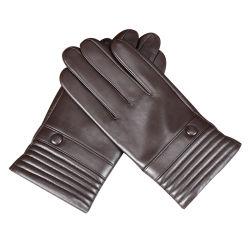 Windundurchlässige gezeichnete warmes bequemes im Freien Arbeitsschutz-Schaffell-lederne Handschuhe für Männer und Frau