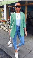 Les femmes de la mode des vêtements de dessus de bureau Tops Plus Taille S- 5XL Y12468