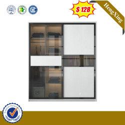Modernos Muebles de Dormitorio armario de puerta corrediza de vidrio negro