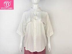 Populärer Entwerfer-lösen nach Maß fantastische Leinenform-Frauen Blusen Blusen-der kurzen Hülsen-Damen