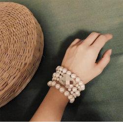 Роскошный жемчужный браслет и моды Bangle Pearl дизайнер ювелирных изделий Pearl женщин браслет