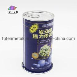 Leere runde Metallblechdose mit Ring-Ziehen Schutzkappen, einfache geöffnete Kappe für Motoröl-Schmieröl-Verpackungs-Behälter