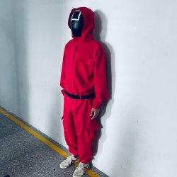 Trajes de cosplay Juegos Squid villano Red Jumpsuit Ronda seis Npc Triángulo Cuadrado Círculo correa correa de la máscara de Halloween Accesorios