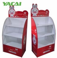 Toys 중국 Cardboard Display Factory를 위한 물결 모양 Cardboard Floor Display