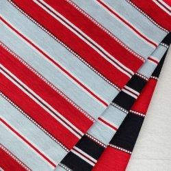 100% katoen, geweven strepen, kleuren-strepen single Jersey