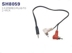 Стерео аудиокабель 3,5 мм разъем на 2 RCA аудио кабель Y-кабель