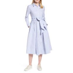 Vestito classico surdimensionato Cuffed dalla camicia del manicotto del cotone delle signore lunghe della banda