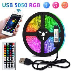LED 스트립 조명 5050 USB 플렉시블 램프 2m 5m 10m 20m 30m 테이프 다이오드 5V RGB 데스크 스크린 TV 배경 방을 위한 조명 리본