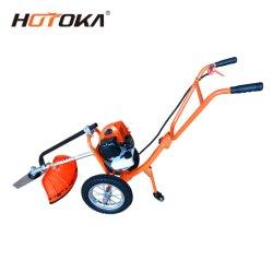 52cc Hand Push Brush Cutter Grass Cutter 1,65kw Benzin Gras Trimmer mit Rollen