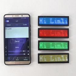 Linli rechargeable sans fil Bluetooth programmable de cellulaire Badge DEL Balise du nom de défilement avec aimant/broche