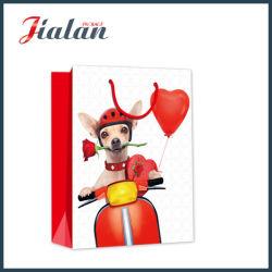 Роуз и собака дизайн в День Святого Валентина магазинов подарков водила бумажные мешки