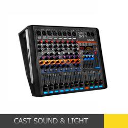 段階装置のための動力を与えられた450W*2 8CH DSP DJの可聴周波ミキサー