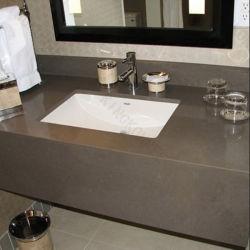 Домашняя мебель индивидуальные Quartz Vanitytop для ванной комнаты