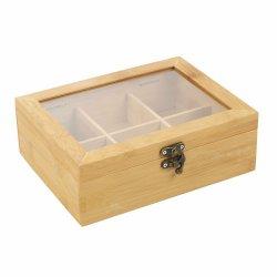 L'emballage de thé en bois de Bambou personnalisé Box Boîte de rangement Commerce de gros