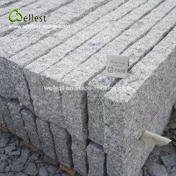 6つの側面の自然な灰色の花こう岩の柵の石造りの塀