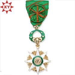 Heißer Verkauf Sterne Medaillen vergoldet mit Mode handgefertigten Band