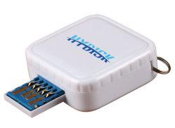 エポキシドームラベル付き角型カスタム格納式 USB フラッシュドライブ