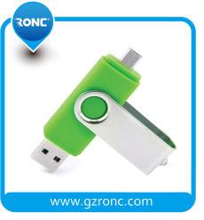 Super Snelheid OTG 2 in 1 8GB Aandrijving van de Pen van de Aandrijving USB 2.0 van de Flits van USB