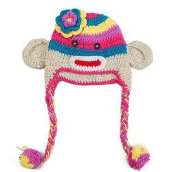 Мода Cute детей спицы Earflap детей животных трикотажные Red Hat