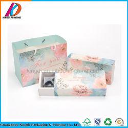 Custom роскошь мода печать подарок из вторичного сырья и продовольствия на упаковку проволоки Cupcake упаковке
