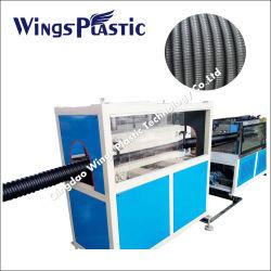 HDPE/van pvc Machine van de Uitdrijving van de Lopende band van de Pijp van Materialen de Spiraal Golf