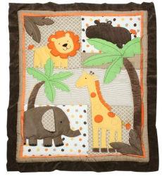 Het Dekbed van het Lapwerk van het Blad van het bed met het Ontwerp van de Leeuw van de Olifant Koel voor Baby
