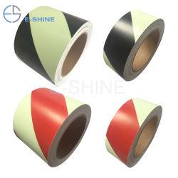 E-Shine Pet/matériau PVC avec éclat d'impression dans l'obscurité film vinyle autocollant Bande photoluminescente Film/vinyle pour panneaux de sortie d'urgence