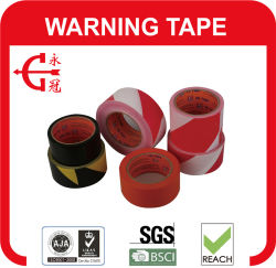 شريط تحذير PVC أسود الخط الأبيض