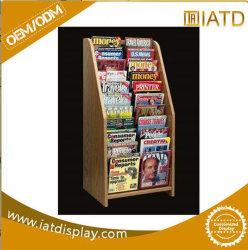 Design especial de rack de Exibição de madeira/ Exposição para reservar, Revista