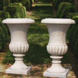 Maceta de mármol del plantador de los plantadores de mármol del jardín