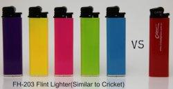 La norme ISO9994 /rechargeables jetables en plastique de silex de gaz Allume-cigares FH-203 Similair Circket plus léger