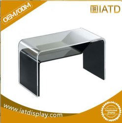 Visor de acrílico de plástico transparente tabela de catálogo de chá no escritório
