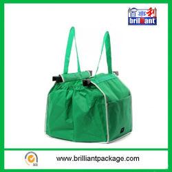 Les sacs réutilisables de vert non tissé Shopping Trolley sac fourre-tout