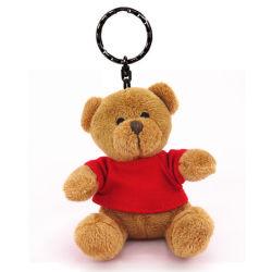 Mini bébé ours en peluche trousseau avec chemise