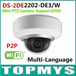 Het meertalige Intelligente Plaatsen van Mic& Audio3d van het Gezoem van de Camera ds-2de2202-De3/W van de Koepel van Hikvision Draadloze IRL PTZ 2MP P2p 2X