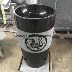Natürlicher weißer /Black-Marmoruntersatz-feste Wäsche-Bassin-Stein-Badezimmer-Wannen für Großverkauf