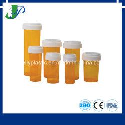 Apotheke-Medizin-Pille-Flasche mit Kind-beständigen einfachen geöffneten umschaltbaren Schutzkappen